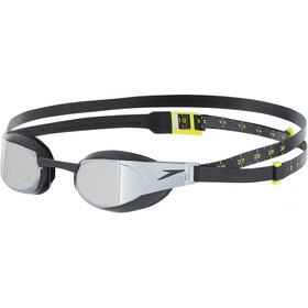 speedo Fastskin Elite Mirror Lunettes de protection, black/dark chrome